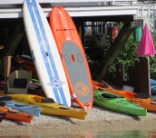 Kayaks and Paddleboards awaiting our return