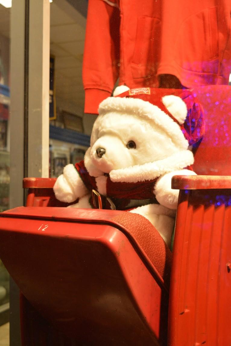 Santa Bear Hockey Fan