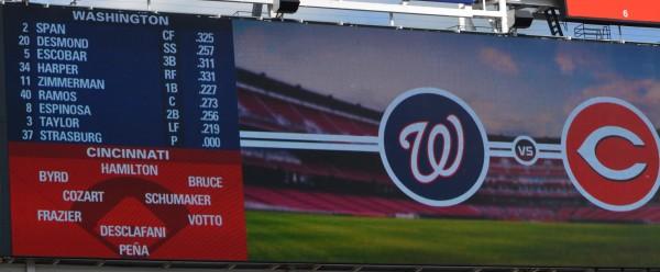 Washington vs. Cincinnati - 5-29-15 Lineup